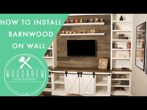 How to Install Faux Barn Wood The Easy Way   DIY