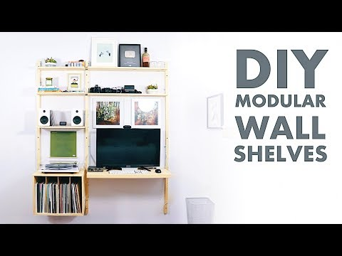 DIY Modern Wall Shelf / Desk | Metal and Plywood | Modern Builds