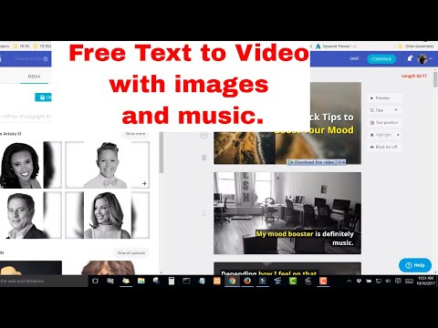 How to Automatically Create Videos Using Text and Images for Free