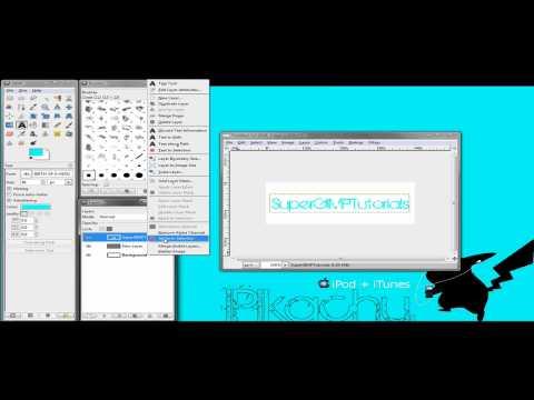 GIMP - How-To Make Text Border