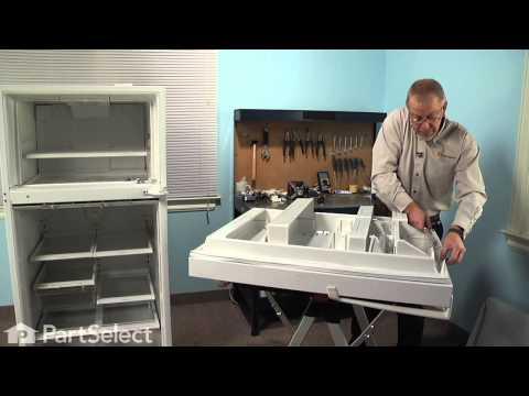 Refrigerator Repair - Replacing the Fresh Food Door Gasket (Whirlpool Part # 12550109Q)