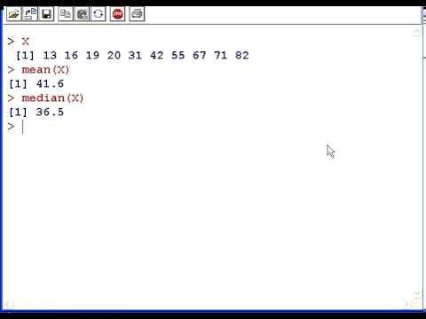 R tutorial : Basic Statistics ( mean, median, standard deviation and variance)