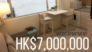 Hong Kong Apartment Tour 24sqm for $7,000,000 hkd