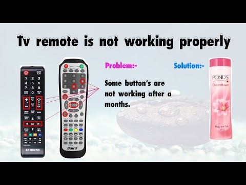 How to fix not working buttons in remote - Easy trick with powder!