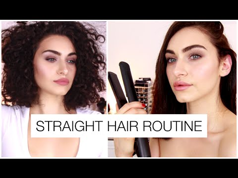 How To Straighten Short Frizzy Hair / My Straight Hair Routine | Ruby Golani