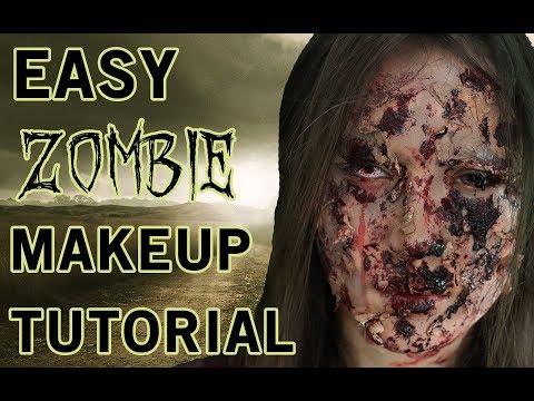 EASY ZOMBIE MAKEUP TUTORIAL HALLOWEEN (Walking Dead inspired + cheap!)