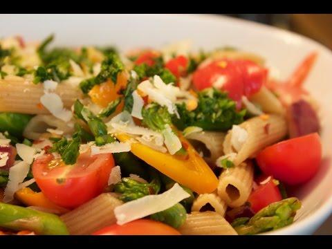 Healthy Pasta Primavera Recipe - Indulgent Fuel