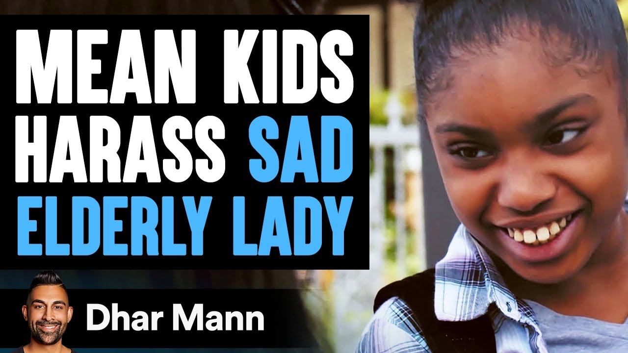 Mean Kids Harass Sad Elderly Woman, What Happens Next Is Shocking | Dhar Mann