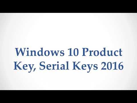 Windows 10 Product Key  Serial Keys 2017