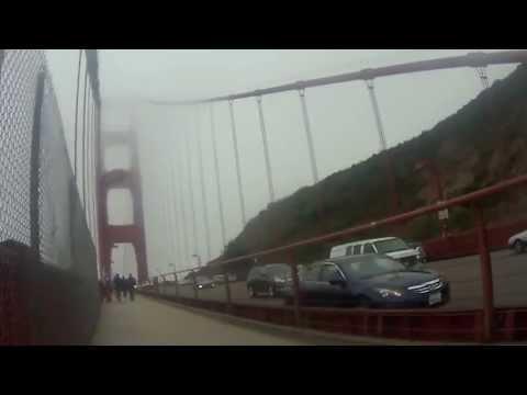 Bicycling across Golden Gate Bridge