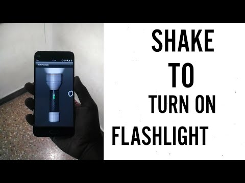 Shake To Turn ON Flashlight On Android