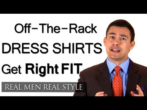 Men's Off-The-Rack Dress Shirts - Understanding The Different Fits Male Clothing