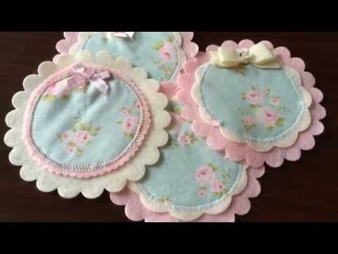 Tilda Millie Teal Fabric DIY Coasters