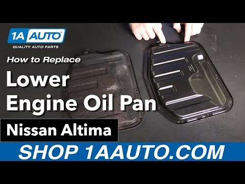 how to Replace Install Lower Engine Oil Pan 02-06 Nissan Altima