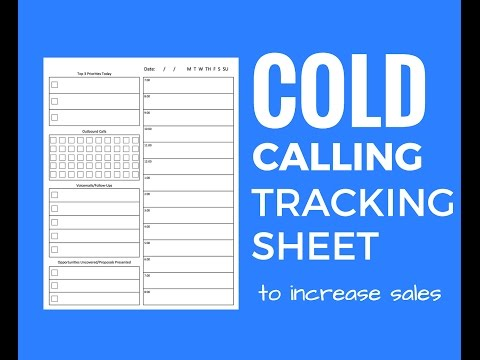 Cold Call Tracking Sheet and Tips