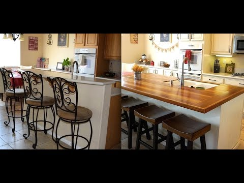 DIY KITCHEN ISLAND REMODEL WITH BUTCHER BLOCK!