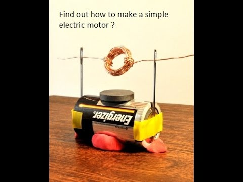Making Simple Electric Motor-Science Project
