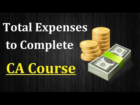 Total Estimated Expenses to Pursue (Chartered Accountancy) CA Course