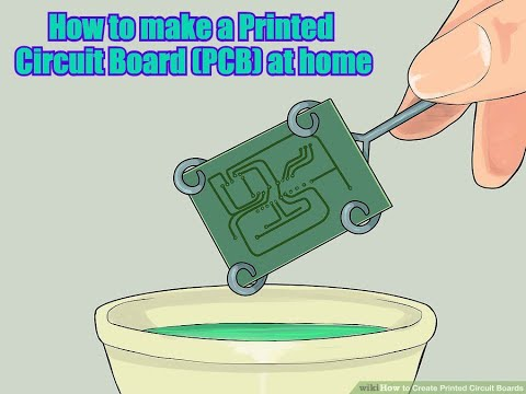 How to make a Printed Circuit Board (PCB) at home