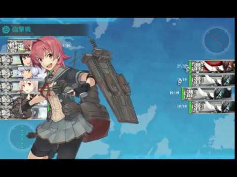    KANCOLLE    MAP 1-6 with KINU KAI NI (AACI + Heavy Damage CG)