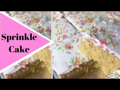 How to make a SPRINKLE TRAY BAKE CAKE