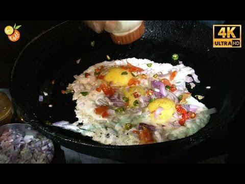 Half Egg Fry - Street Food India - Indian Street Food 2017