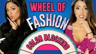 Colorblocking Challenge! | Wheel Of Fashion w/ Niki And Gabi