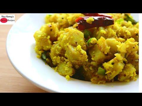 Sweet Potato Masala Stir Fry - Sweet Potato Upma - Healthy Breakfast/Lunch Recipes For Weight Loss