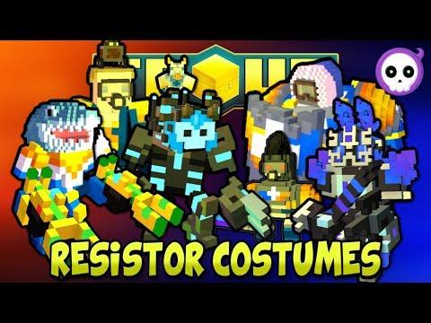 EVERY RESISTOR COSTUME IN TROVE HEROES!