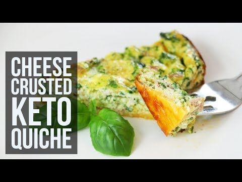 Cheese Crusted Keto Quiche | Easy Low Carb Brunch Recipe by Forkly