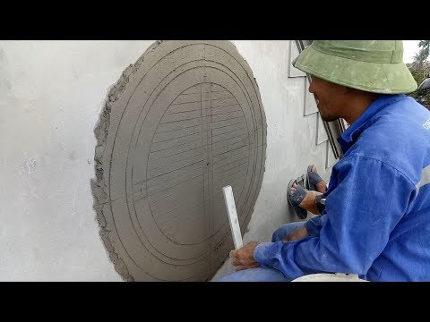 Most Creative Sand And Cement Working On Walls - Build Curved Door Concrete Easy