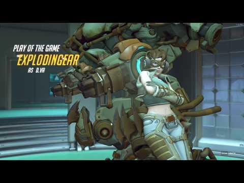 Overwatch PotG: D.va Triple Kill ( plus phara suicide cause)