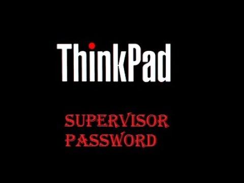 How to remove Thinkpad supervisor password X series