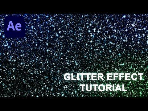 Glitter Effect Adobe After Effects Tutorial (Beginner Tutorial)
