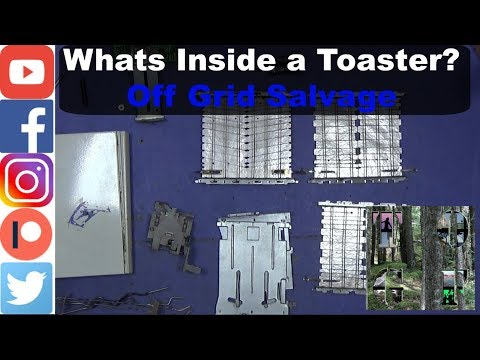 Whats Inside a Toaster? Off Grid Salvage, There is a lot more than you'd think!