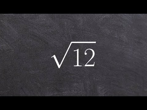 Learn How to Simplify the Square Root of a Number by Prime Factorizatio