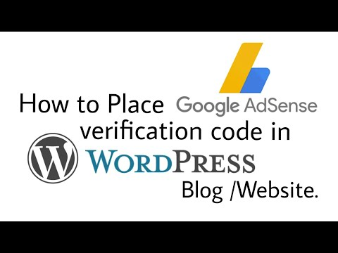 how to verify Wordpress site on google adsense (how to add verification code)