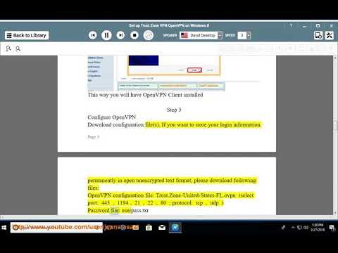 Set up Trust.Zone OpenVPN on Windows 8