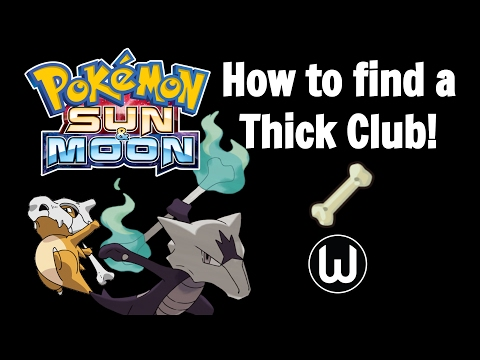 How to find Thick Club! | Pokemon Sun & Moon Guide