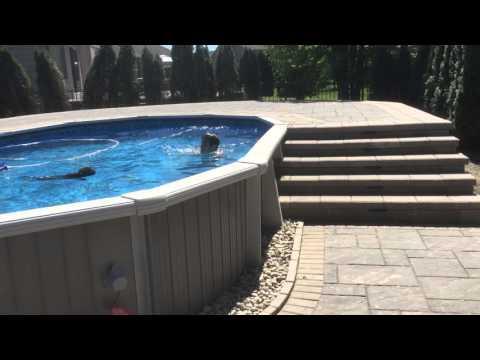 Above Ground Pool Wrap around Pool Deck Macomb Michigan