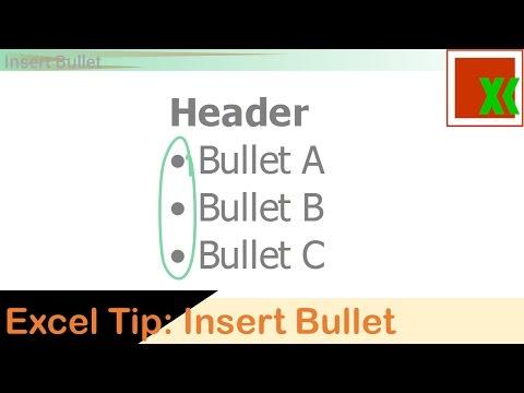Excel Tip: Insert Bullet / บูลเล็ท หลายวิธี