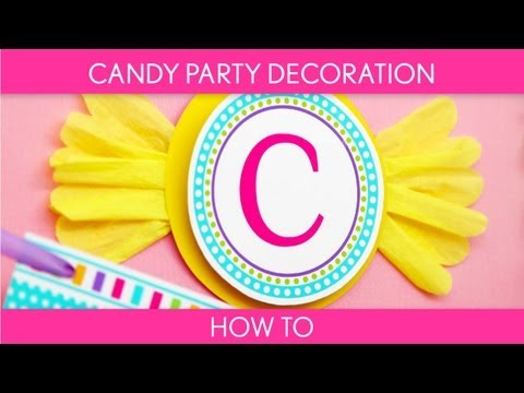 How to Make: Candy Party Decoration (Birthday Party) // Candyland - B39