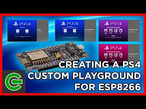 Creating a custom PS4 Playground for ESP8266