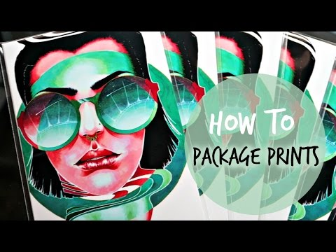 HOW TO: Package Prints For Shipping
