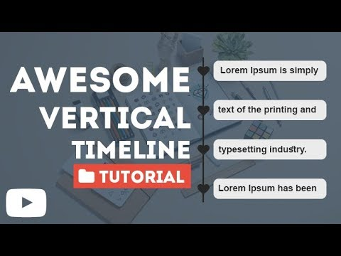 Design a Vertical Timeline Using Only Html And CSS