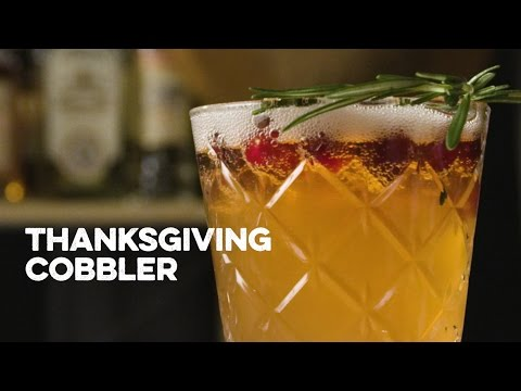 How To Drink Thanksgiving Cobbler