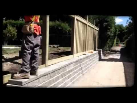 Interloc-Kings Inc. - Retaining Wall / Fence Project