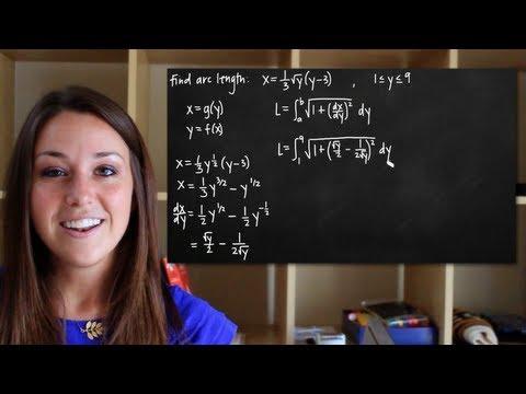 Arc length x=g(y) (KristaKingMath)