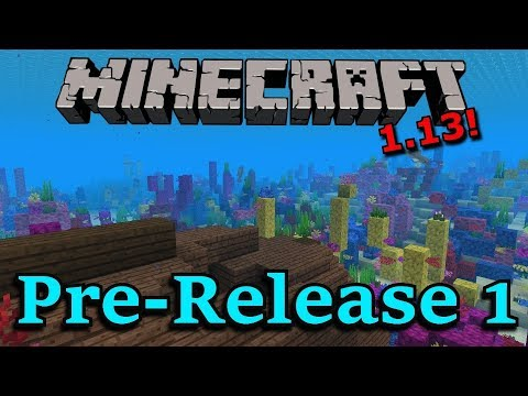 Minecraft 1.13 Pre-Release 1- New Title Screen, New Music, New Textures!