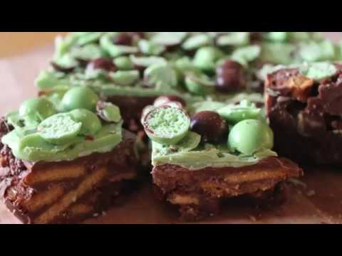Mint aero chocolate fridge cake recipe